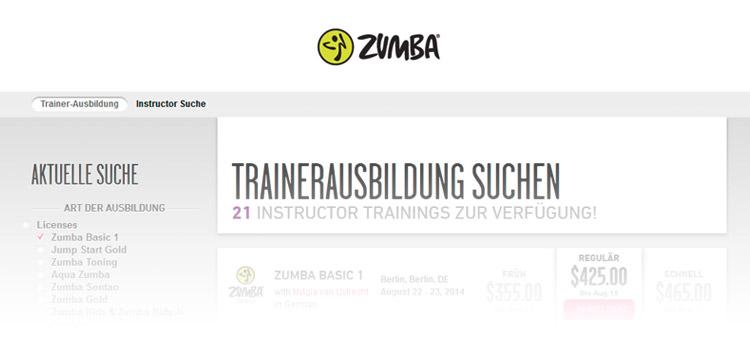 Zumba® Ausbildung – Trainerausbildung suchen auf zumba.com