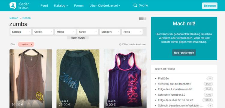 Zumba® Kleidung bei Kleiderkreisel.de