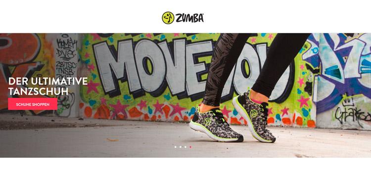 Zumba Schuhe auf zumba.com